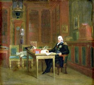 Louis XVIII in his Study at the Tuileries by Baron Francois Pascal Simon Gerard