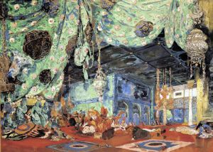 Set design for 'Scheherazade' by Rimsky-Korsakov 1916 by Leon Bakst