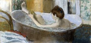 Woman in her Bath Sponging her Leg c.1883 by Edgar Degas