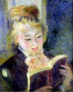 Girl Reading 1874 by Pierre Auguste Renoir