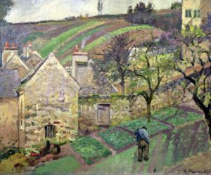 Hillside of the Hermitage Pontoise 1873 by Camille Pissarro