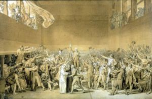 The Oath of the Tennis Court 1791 by Jacques-Louis David