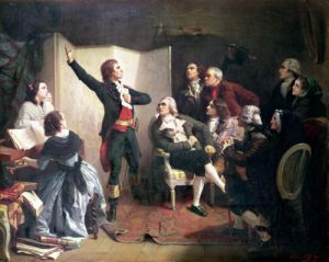 Rouget de Lislem singing the Marseillaise 1792 by Isidore Pils