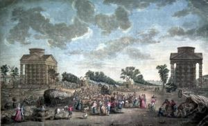 The Barrier at the Champs Elysees 1790 by French School