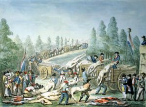 Transporting Corpses during the Revolution c.1790 by Etienne Bericourt