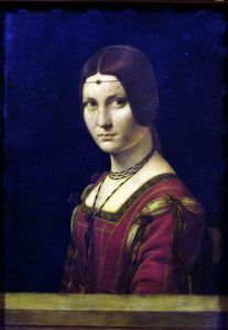 Portrait of a Lady from the Court of Milan c.1490 by Leonardo da Vinci