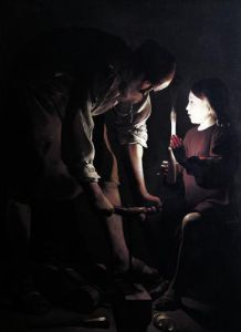 St. Joseph the Carpenter c.1640 by Georges De La Tour