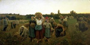 Calling in the Gleaners 1859 by Jules Adolphe Breton