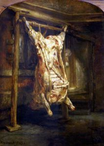 The Slaughtered Ox 1655 by Rembrandt