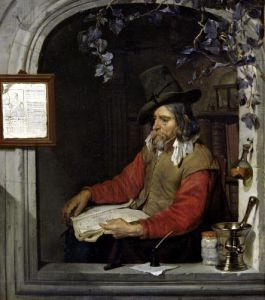 The Apothecary or The Chemist by Gabriel Metsu
