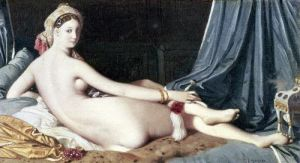 Odalisque 1814 by Jean-Auguste-Dominique Ingres