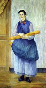 Lady Carrying Bread 1889 by Albert Dubois-Pillet