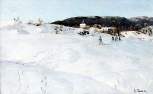 A Winter's Day in Norway 1886 by Fritz Thaulow