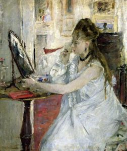 Young Woman Powdering her Face 1877 by Berthe Morisot