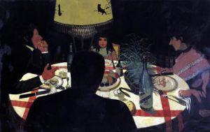 Dinner by Lamplight 1899 by Felix Vallotton