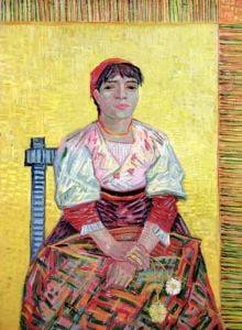The Italian' Agostina Segatori 1887 by Vincent Van Gogh