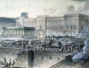 The Arrival of Louis XVI in Front of the Louvre 1789 by Jean-Pierre Houel