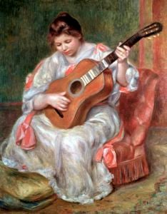 The Guitar Player 1897 by Pierre Auguste Renoir