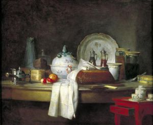 The Officers' Mess or The Remains of a Lunch 1763 by Jean Baptiste Chardin