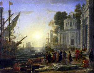 Cleopatra Disembarking at Tarsus 1642 by Claude Lorraine