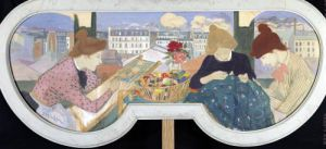 Three Women Working by Theophile-Alexandre Steinlen