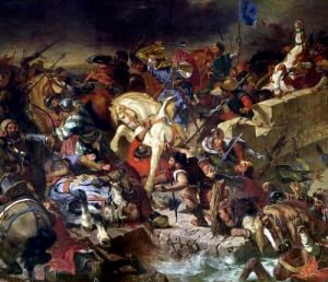 The Battle of Taillebourg 1837 by Eugene Delacroix