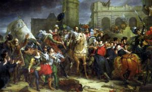 The Entry of Henri IV into Paris 1594 by Baron Francois Pascal Simon Gerard