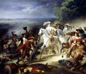 Battle of Rocroy 1834 by Francois Joseph Heim
