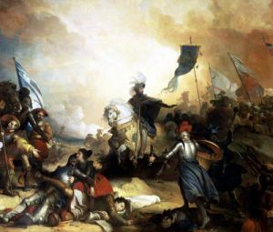 The Battle of Marignan 1836 by Alexandre Evariste Fragonard