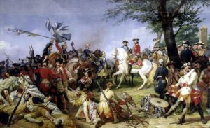 The Battle of Fontenoy 1828 by Emile Jean Horace Vernet