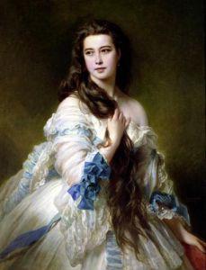 Portrait of Madame Rimsky-Korsakov nee Varvara Dmitrievna Mergassov 1864 by Franz Xavier Winterhalter