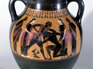 Theseus Fighting the Minotaur (Detail) by Greece