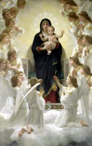 The Virgin with Angels 1900 by Adolphe William Bouguereau
