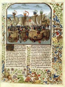 Battle of Ecluse 24th June 1340 by Anonymous
