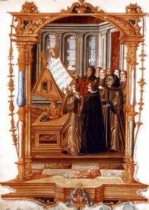 Illustration from Chants Royaux sur la Conception Couronnee du Puy de Rouan by French School