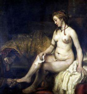Bathsheba Bathing 1654 by Rembrandt