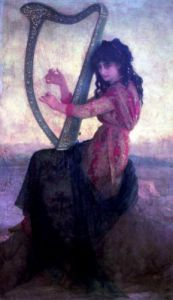 Muse Playing the Harp by Antoine Auguste Ernest Herbert