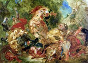 Study for The Lion Hunt 1854 by Eugene Delacroix