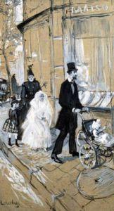 First Communion Day 1888 by Henri de Toulouse-Lautrec