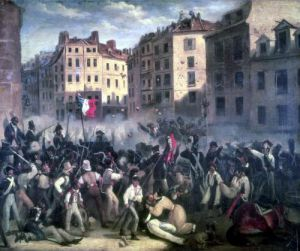 The Charter or Death July 1830 by French School