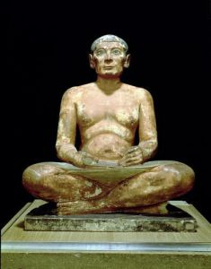 Crouching Scribe Statue from Saqqara Old Kingdom by Egyptian Art