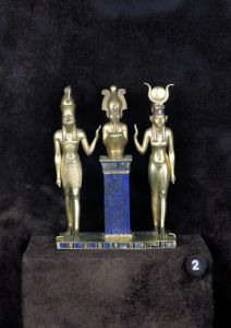 Osiris Horus Isis - The Triad of Osorkon II reign of Osorkon II by Egyptian Art