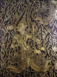 Detail from a Thai cabinet by Anonymous