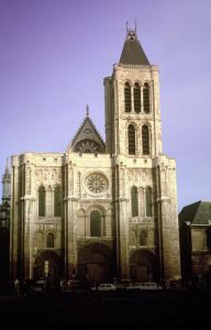 View of the West Facade begun c.1135 by French School