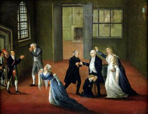 Louis XVI Bidding Farewell to his Family 1793 by French School