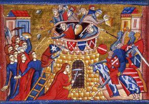 Scythian women besieging their enemies c.1286 by Anonymous