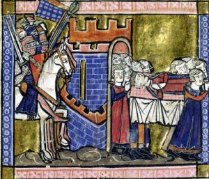 Citizens of Edessa pay homage to Baldwin II by William of Tyre