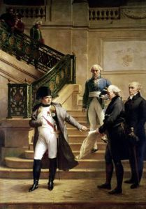 Napoleon I in the Palais Royal 1807 by Merry Joseph Blondel
