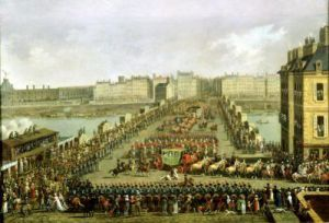 The Imperial Procession Returning to Notre Dame by Jacques Bertaux