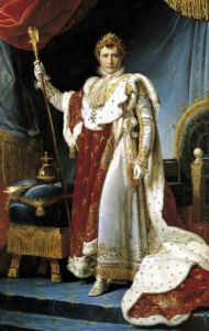 Napoleon I in his coronation robe c.1804 by Baron Francois Pascal Simon Gerard